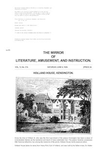 The Mirror of Literature, Amusement, and Instruction - Volume 13, No. 374, June 6, 1829