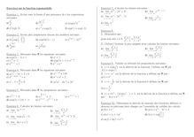 Exercice sur les fonctions exponentielles