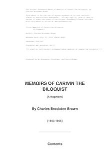 Memoirs of Carwin, the Biloquist