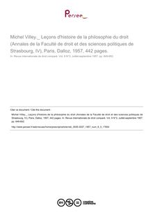 Michel Villey._ Leçons d