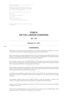 Punch, or the London Charivari, Volume 153, October 31, 1917