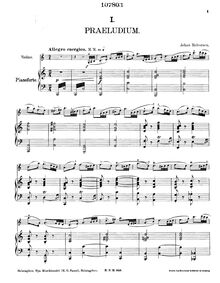 Partition Score (Piano), 6 Stimmungsbilder, 6 Mood Pieces for Violin and Piano
