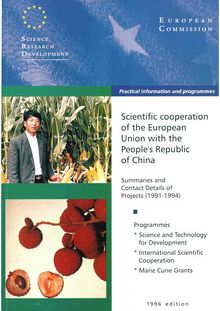 Scientific cooperation of the European Union with the People
