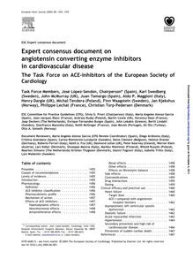 Expert Consensus Document on Angiotensin Converting Enzyme Inhibitors in Cardiovascular Disease