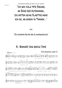 Partition violon 1, Stringquartett, WesenAuer, Peter par Peter WesenAuer