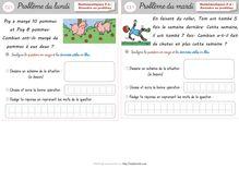Mathématiques CE1 – Documents élèves - Problèmes hebdomadaires Problèmes hebdomadaires Période 2