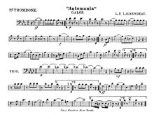 Partition Trombone 1, Automania, Galop, Laurendeau, Louis Philippe
