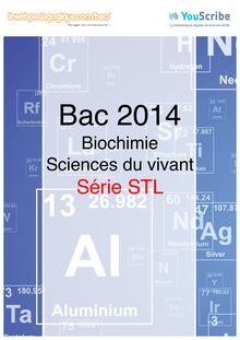 Corrigé bac 2014 - Série STL - Chimie-biochimie-sciences du vivant (sous-épreuve)