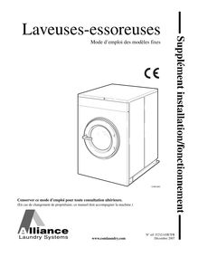 Notice Laveuse Extractor Speed Queen  SC40MD2