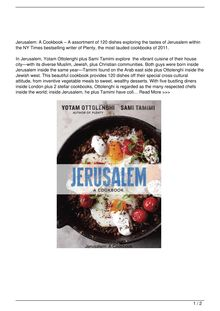 Jerusalem A Cookbook Book Reviews