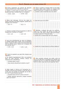 Chapitre N5 : Opérations sur les nombres décimaux : Division d'un nombre décimal par un nombre entier