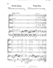 Partition 4th chœur, Oedipus Tyrannus, Op.35, Paine, John Knowles