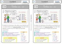 Orthographe / Grammaire / Vocabulaire CE1 – Préparations de dictées et leçons - Leçon verbe 1er groupe