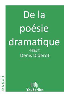 De la poésie dramatique de Denis  Diderot - fiche descriptive