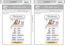 Orthographe / Grammaire / Vocabulaire CE1 – Préparations de dictées et leçons - Leçon verbe dire