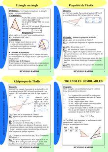 Fiche de révision - Géométrie 3ème  (2)