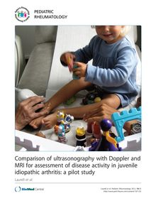 Comparison of ultrasonography with Doppler and MRI for assessment of disease activity in juvenile idiopathic arthritis: a pilot study