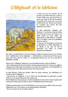L'éléphant et le hérisson
