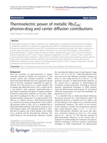 Thermoelectric power of metallic Rb3C60: phonon-drag and carrier diffusion contributions