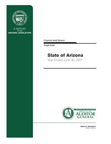 State of Arizona June 30, 2007 Single Audit