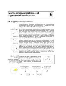 Fonctions trigonométriques et trigonométries inverses