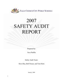 2007 Safety Audit Final report