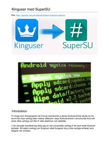 Kinguser med SuperSU