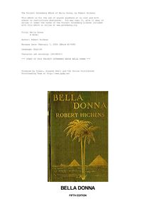 Bella Donna - A Novel
