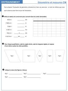Mesures de longueurs (et conversions), polygones, quadrilatères, constructions
