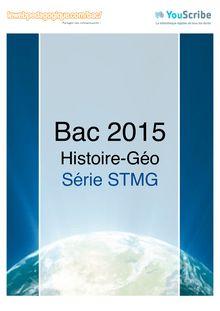 Corrigé Bac 2015 - Histoire-Géo - STMG