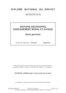 Brevet 2018 : le sujet d'histoire série générale