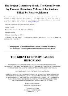 The Great Events by Famous Historians, Volume 05 - (From Charlemagne to Frederick Barbarossa)