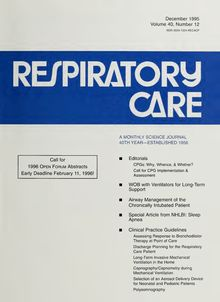 Respiratory care : the official journal of the American Association for Respiratory Therapy