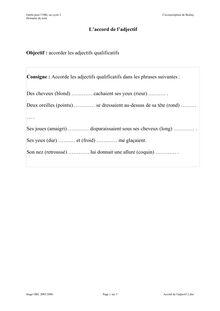 Exercices sur l'accord de l'adjectif - Réviser le français en ligne