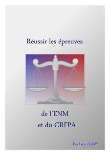 LIVRE DU CRFPA - Léon Flavy