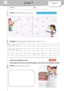 Mathématiques CE1 – Organisation des séances, exercices et leçons : Périodes 1 et 2 - Aurélie Cap Maths excercices unités 1 à 3 CE1