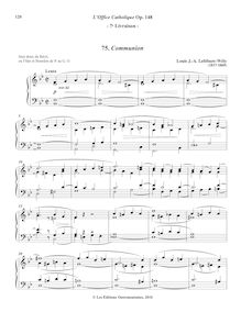 Partition 7, Communion (B-flat major), L'Office Catholique, Op.148