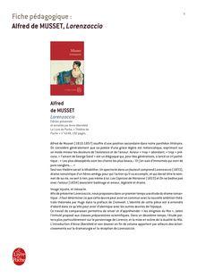 Bac 2014 Fiche revision pedagogique Litterature Lorenzaccio