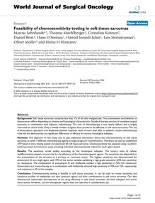 Feasibility of chemosensitivity testing in soft tissue sarcomas