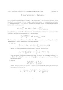 FINITE DIFFERENCES FINITE VOLUMES CONSERVATIONS LAWS Feb April