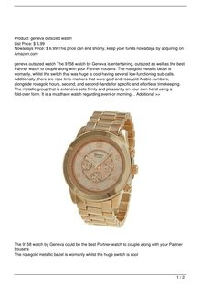Geneva Platinum 9158 Women8217s Decorative Chronographstyle Link WatchRGOLD Watch Review