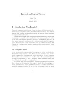 Tutorial on Fourier Theory