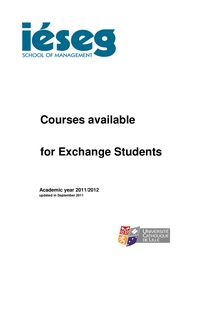 Course Catalogue 2011-12