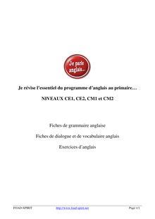 Réviser l'anglais au primaire - Apprendre l'anglais en ligne