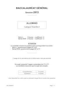 Bac 2013 General Allemand LV2
