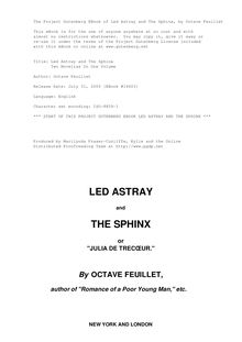 Led Astray and The Sphinx - Two Novellas In One Volume