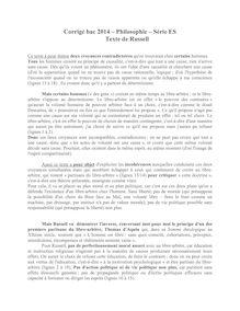 Corrigé bac 2014 (Pondichéry) - Série S - Philo - Explication du texte de Russell