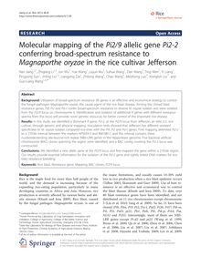 Molecular mapping of the Pi2/9 allelic gene Pi2-2 conferring broad-spectrum resistance to Magnaporthe oryzae in the rice cultivar Jefferson