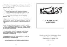 L'écriture arabe en 50 fiches - apprendre l'arabe