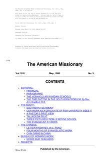 The American Missionary — Volume 42, No. 05, May, 1888